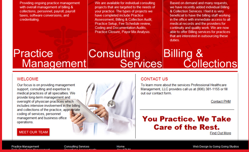 Portfolio - Corporate Healthcare Web Design Project
